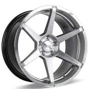 4ea 20 Staggered Ace Alloy Wheels Aff06 Silver With Machined Face Rimss45