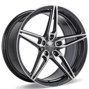 4ea 19 Staggered Ace Alloy Wheels Aff01 Gloss Grey With Machined Faces45