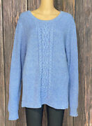 Lands End Pullover Cable Knit Long Sleeve Sweater Women Size Xl