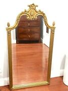 Vintage Gold Gilt Wall Hanging Mirror 49 X 26