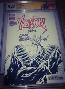 Venom 3 Cgc 9.8 Ss Signed By Cates Sdcc 2018 Previews Exclusive Px Variant Knull