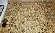 Vintage Approx. 52 Clear Glass Anchor Hocking Furniture Coasters Casters Lot