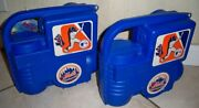Pair Of Mets Thermos Lunchboxes - 1993