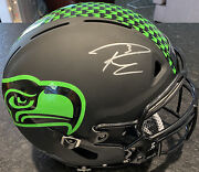 Seattle Seahawks Russell Wilson Signed Autographed Eclipse Auth Football Helmet