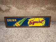 Very Rare Drink Squirt Soda Sign Framed A.a.w. Usa Form S-58 Approx 18andrdquox4.5andrdquonice
