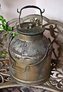 Antique 5 Gallon Labeled Milk Master Galvanized Steel Milk Can Pail Jug Cover
