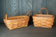 Longaberger Small Key Basket And 1990 Mother's Day Basket - Lots 285 And 286