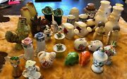 35 Piece Lot Of Salt And Pepper Shakers All Vintage 10 Sets And 15 Singles