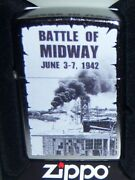 Zippo Ww2 Battle Of Midway Chrome Lighter No.f 20 Mint In Box