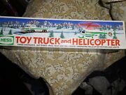 New In Box 1995 Hess Toy Truck And Helicopter Set