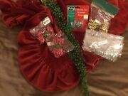 Vintage Christmas Hooks,tie-ons,faux Beaded Branch, Used And New, Mix Lot