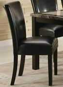 Coaster Home Furnishings Set Of 2 Parson Dining Chairs In Brown Faux Leather