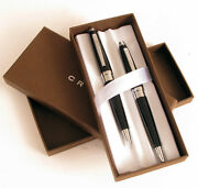 Vintage At Cross Ball Point Pen And Pencil Set In Original Box Superb Condition