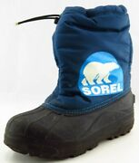 Sorel Youth Boys Shoes Size 5 M Blue Synthetic Snow Boot