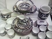 46 Pc Cama Deruta Italy Hand Painted Soup And Dinner Set Rare Full Set Found More