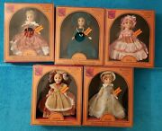 5 Vintage Castle Collection 8 Dolls- Fashions From American History- Nib