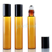 Wholesale 10ml Empty Yellow Glass Bottles Metal Roller Ball For Essential Oils