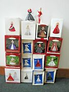 [lot Of 19] Holiday Barbie Special Edition Hallmark Christmas Tree Ornaments