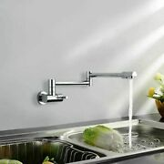 Drawing Pot Filler Kitchen Sink Faucet Wall-mounted Foldable Swing Arm Single