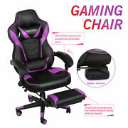 Massage Racing Video Gaming Chair Office Chair Adjustable Swivel Computer Desk