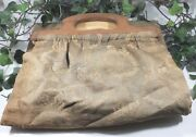 Lot Of 4 Very Antique Purses 3 Wood Handle With 24 Vintage Carded Buttons More