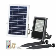 Changeable Rgb Solar Panel Led Floodlight Garden Path Home Outdoor Lighting Lamp