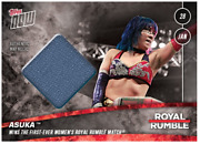 2018 Topps Now Wwe Wwf Royal Rumble Relic And039d To /25 Asuka - Rhonda Rousey Debut