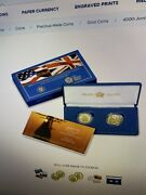 400th Anniversary Of The Mayflower Voyage Two-coin Gold Proof Set In Hand 20xa