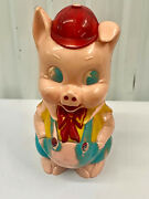 Vintage Ideal 1960and039s Piggy Bank Hard Plastic Doll Pig Figure Coin Bank