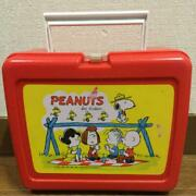Peanuts Snoopy Lunch Box 1970's Bento Vintage Charlie Brown Amelica From Japan