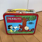 Peanuts Snoopy Lunch Box Thermos 1960's Bento Vintage Charlie Brown From Japan