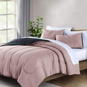 Wellbeing Comforter Set Lightweight Easy Care For Full/queen Size Polyester Supe