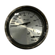 Faria Spun Silver 5 Multifunction 2-in-1 Combination Gauge W/speed Andamp Tri...