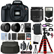 Canon Eos Rebel T100 Slr Camera With 18-55mm+ 16gb 3 Lens Ultimate Accessory Kit