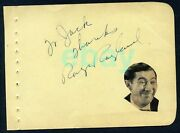 Rags Ragland D. 1946 Signed Vintage Page Autograph - Pal Of Frank Sinatra Wow