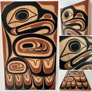 Northwest Coast First Nations 30andrdquo X 18.5andrdquo Eagle Panel By Jim Charlie Squamish