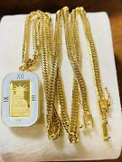 K18 Japan Fine Gold 1 Pc. Liberty Necklace 18andrdquo 45cm Long 18.3 3.2mm Fastship