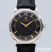 Omega Ref.2635-1h Vintage Cal.354 Black Automatic Mens Watch Authentic Working