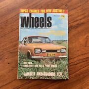 Vintage May 1970 'wheels Magazine' Ford Escort Repco Power Bmw 2500 Crown