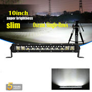 12inch Single Row Led Work Spot Flood Light Bar Combo Suv Boat Driving Offroad
