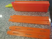 23 Hot Wheels Straight Track Pieces With Connectors Fast Shipping