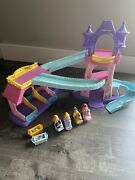 Fisher Price Little People Disney Princess Klip Klop Stable Castle With 4 Horses