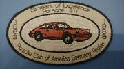 Porsche Embroidered Patch Pca German Region 25 Years Very Rare