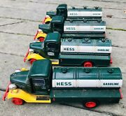 Hess 1982 Bank Gasoline Truck Lot Of 4 As Is- See Pics