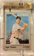 2019 Topps Heritage Kyle Tucker Red Ink /70 Rc Auto Ssp Bgs Quad 9.5/10 Gem Mint