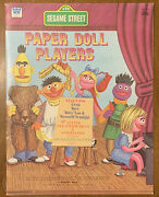 Vintage Sesame Street Paper Doll Players 1976 Whitman Nice Never Used Unpunched