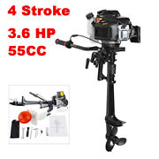 Fda/ce 4 Stroke 3.6 Hp Outboard Motor 55cc Boat Engine With Air Cooling System