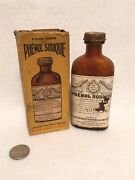 Vintage Medicine Bottle Hance Brothers And White Philadelphia Rare With Box