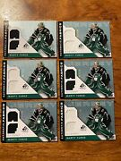 6 X 2005-06 Sp Game Used Authentic Fabrics Gold Afmt Marty Turco /100 Bv 120