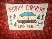 Home Wall Decor Happy Campers Trailer Home On Wheels Decorations Farmhouse Gift